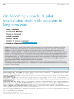 On becoming a coach: a pilot intervention study with managers in long-term care