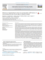 Influence of organizational context on nursing home staff burnout: A cross-sectional survey of care aides in Western Canada