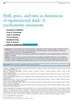 Staff, space, and time as dimensions of organizational slack: A psychometric assessment