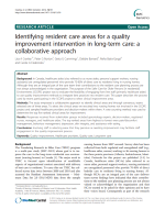 Identifying resident care areas for a quality improvement intervention in long-term care: a collaborative approach