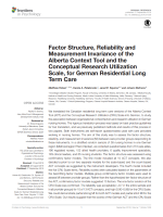 Factor structure, reliability and measurement invariance of the Alberta Context Tool and the Conceptual Research Utilization Scale, for German residential long term care
