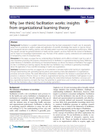 Why (we think) facilitation works: insights from organizational learning theory
