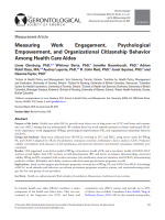 Measuring work engagement, psychological empowerment and organizational citizenship behavior among health care aides