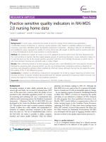 Practice sensitive quality indicators in RAI-MDS 2.0 nursing home data