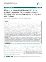 Mobility of Vulnerable Elders (MOVE): study protocol to evaluate the implementation and outcomes of a mobility intervention in long-term care facilities