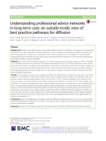 Understanding professional advice networks in long-term care: an outside-inside view of best practice pathways for diffusion