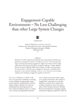 Engagement-Capable Environments – No Less Challenging than other Large System Changes