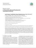 A protocol for advanced psychometric assessment of surveys