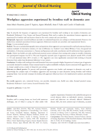 Workplace aggression experienced by frontline staff in dementia care