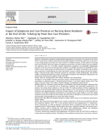 Impact of symptoms and care practices on nursing home residents at the end of life: A rating by front-line care providers