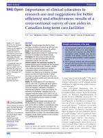 Importance of clinical educators to research use and suggestions for better efficiency and effectiveness: results of a cross-sectional survey of care aides in Canadian long-term care facilities