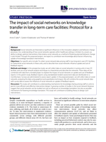 The impact of social networks on knowledge transfer in long-term care facilities: Protocol for a study