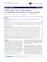 SCOPE: Safer care for older persons (in residential) environments: A study protocol